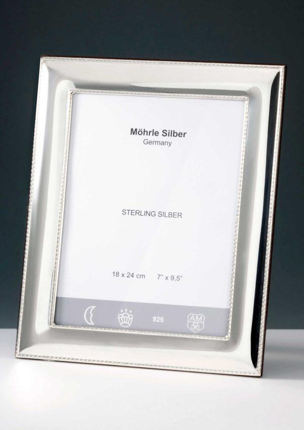 "Bilderrahmen Silber 925 ""230"" Kordelrand | Möhrle Silber Germany"