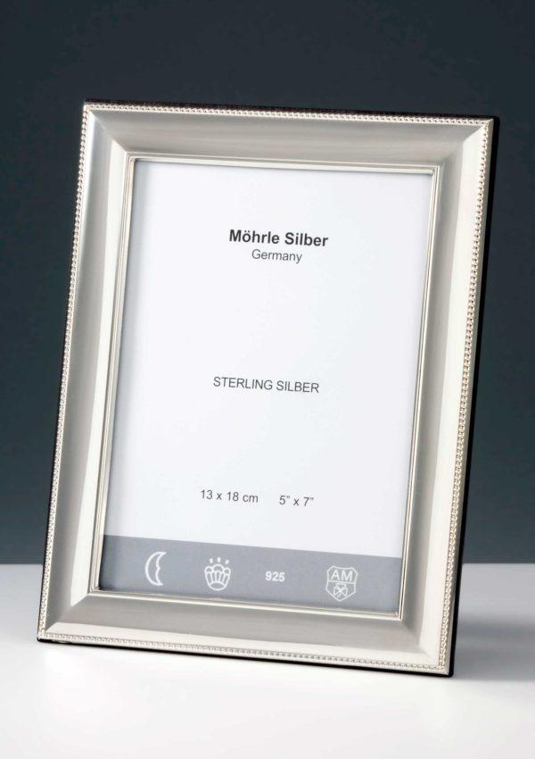 "Bilderrahmen Silber 925 ""244"" Perlrand   Möhrle Silber Germany"