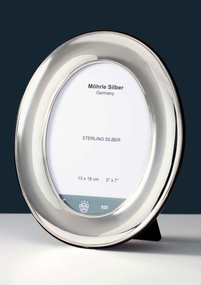 "Bilderrahmen Silber 925 ""605"" Oval   Möhrle Silber Germany"
