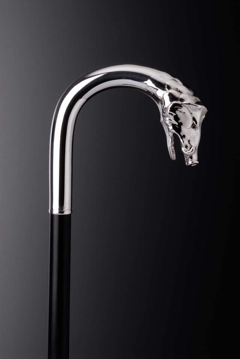 """Gehstock Silber """"Wildschwein"""" 4780   Möhrle Silber Germany"""